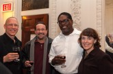 Harvard Lecturer Samuel Dinnar, Sound Designer David Remedios, Elliot Norton Award winner Johnny Lee Davenport and his wife