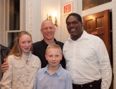 Actor Samuel Dinnar and his kids with Actor Johnny Lee Davenport