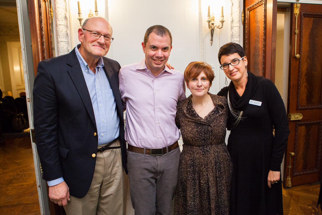 The Board of Israeli Stage: Bruce Lynn, Udi Urman, Brynna Bloomfield with Board President Dalia Cahana-Amitay