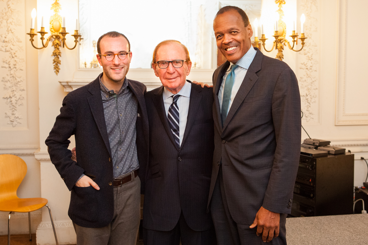 Producing Artistic Director Guy Ben-Aharon with Sabra Award Recipients Ted Cutler and Lee Pelton
