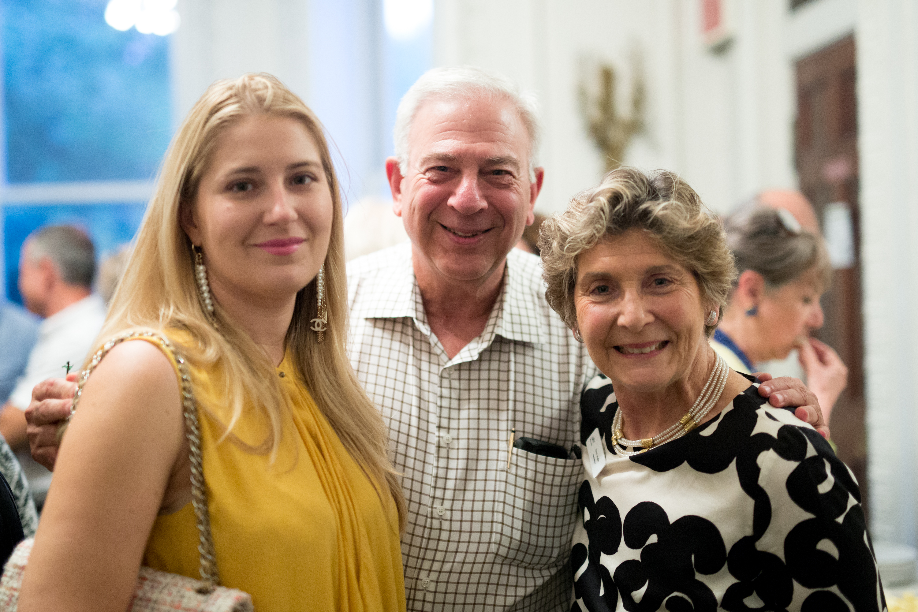 Micol Mion, Ambassador Council Member Louis Grossman and Board Chair Naomi Gordon