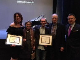 Actor Maureen Keiller, Board Chair Naomi Gordon, Director Guy Ben-Aharon, Actor Will Lyman and Board Member Jeff Kubiatowicz